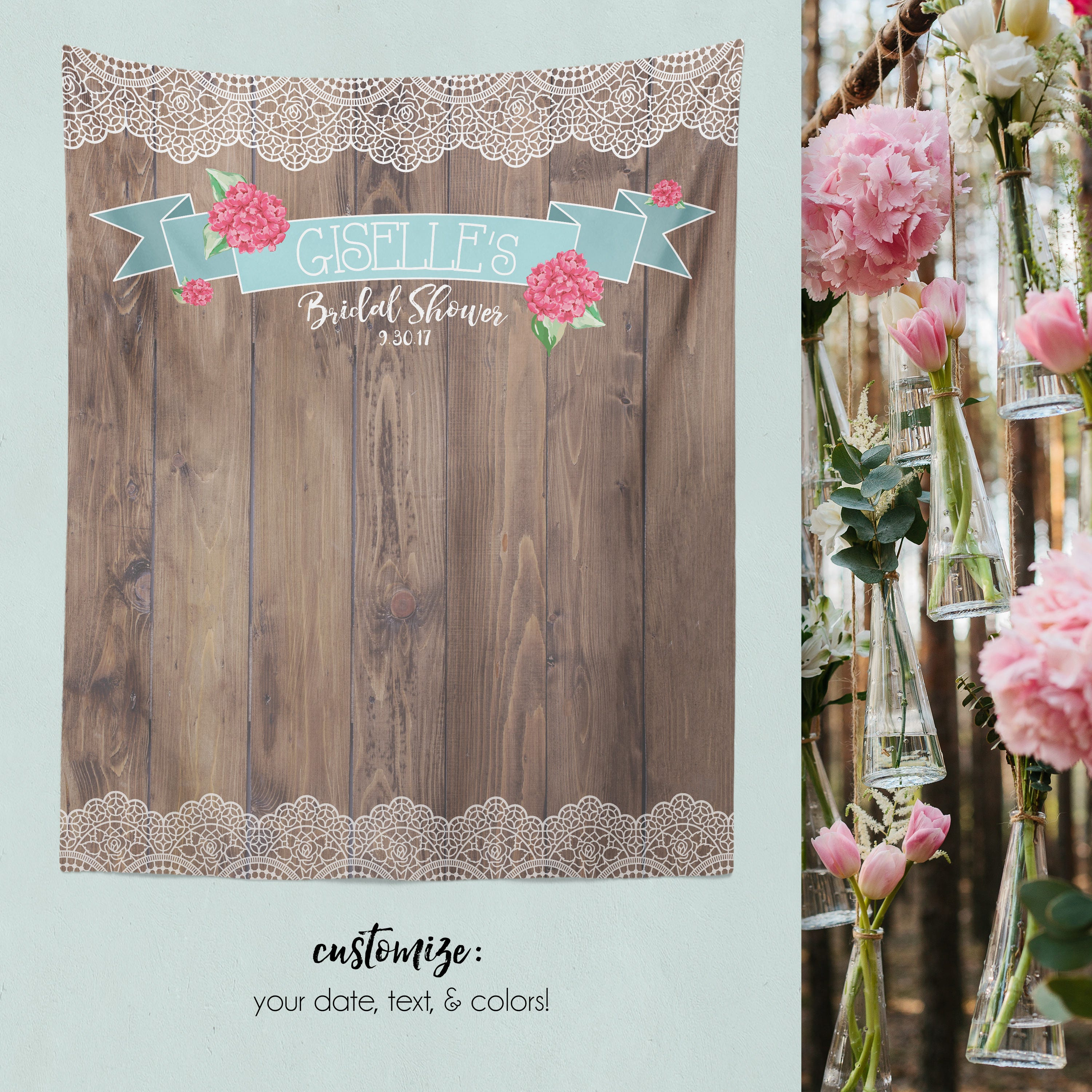 Rustic Wood Background Photo Booth Wood Backdrop Rustic