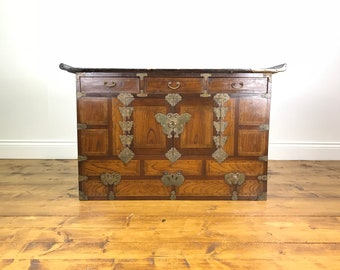 Nice Rustic Chinese Chest of Drawers - Vintage Antique Japanese TV Stand Cabinet
