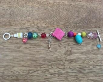 Unique, individual, colourful bracelet
