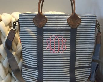 Monogrammed bag, personalized luggage, bridesmaid gift, flight bag, overnight, monogram weekender bag, gift, diaper bag, hospital bag,