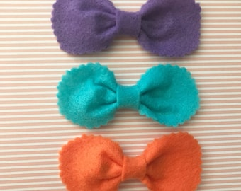 3 Pack Round Scalloped Bow Set