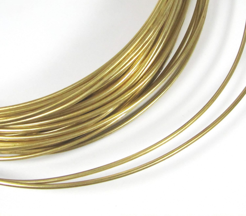 Red Brass wire, Big Round gold wire, 10 gauge wire, 10 ft of 10 ...