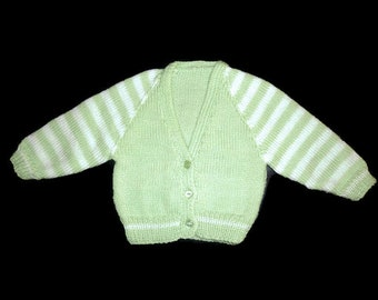Baby cardigan. Knitted cardigan. knitted baby sweater. Baby boy. Baby gift. Baby shower gift. Newborn-3 months. Knitted baby jacket.