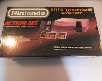 Original Vintage NES Nintendo Action Set Video Game System Console