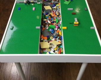 Table height large building bricks table, kids Lego® Table, activity table, train table, art table, Lego table with storage