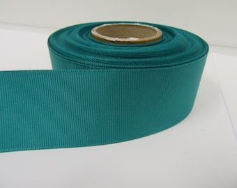 Grosgrain Ribbon 3mm 6mm 10mm 16mm 22mm 38mm 50mm Rolls, Jade Dark Green, 2, 10, 20 or 50 metres, Ribbed Double sided,