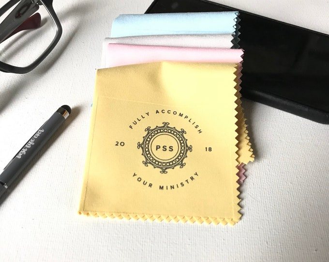 Set of 35 Assorted Pioneer Service School Gift Lens Cloth - Medallion