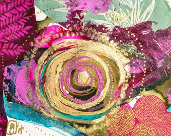 yoga art, yoga painting, yoga gifts, yoga wall art, yoga studio decor, yoga artwork, yoga print, what if I fall, rumi, gold art, magenta art