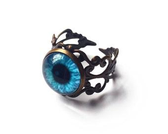 Adjustable Creature Eye Rings