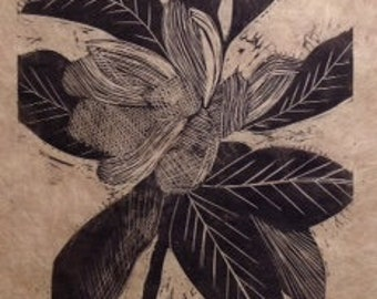 original limited edition linocut of flower (2)