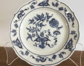 Blue Danube Plate, Japan Blue and White Plate, Bread and Butter Plate, Onion Design, Small Plate, Made in Japan
