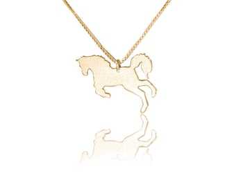 14k gold horse necklace gold horse pendant gold horse charm necklace