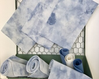Hand Dyed Wool Felt, Ice Cube, Pure Merino, NonWoven Fabric