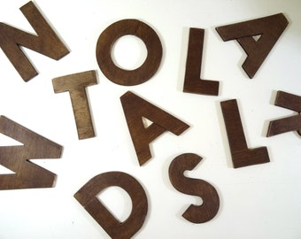 Wooden letters - size 4'' // Wall decor //  Wooden wall signs // Home decor // wooden alphabet