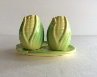Thanksgiving Corn Pottery Salt & Pepper Corn Shakers / Simply Charming / Perfect for Farm House Garden Summer Cottage Gecor