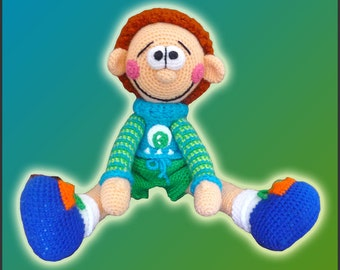 Amigurumi Pattern Crochet Peter Doll DIY Digital Download