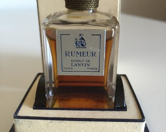 Very Rare Old Formula Sealed Lanvin Rumeur Extrait Vintage French Perfume 15ml, Vintage Perfume, Lanvin Perfume, Rumeur French Perfume