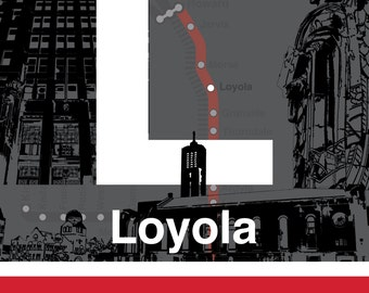 CTA L Stop Sign: Loyola (Red Line)