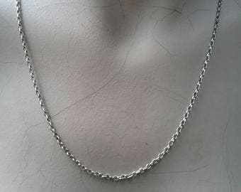 Sterling silver oval linked belcha rollo chain