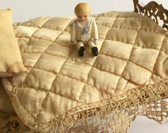 "Tiniest Bisque Joointed Sailor Boy 1 1/8"" Artist made"
