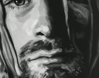 Kurt Cobain Fine Art Print (Nirvana - Grunge - 90s - Nevermind - Teen Spirit - Bleach - In Utero - Drain You  - Icons - Musician Portrait)