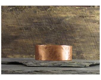 Heavily Hand Hammer/ Forged Patterned Copper Bracelet HH-1-1404