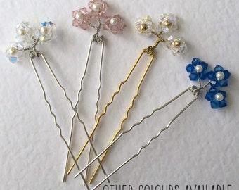 Hair pin, wedding hair pins, crystal hair pins, hair pins, bridal hair, hair accessories, wedding hair, bridal hair pins, flower hair pins,