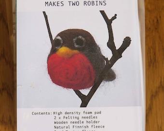 Needlefelted Robin Kit