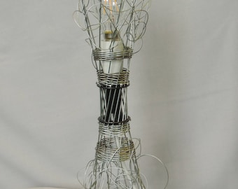 Table lamp made from recycled bike parts