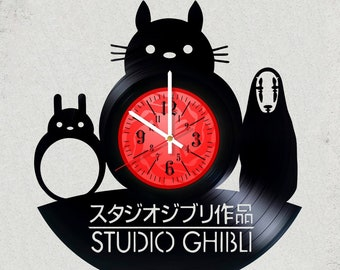 Studio Ghibli 12 inch / 30 cm ViNYL WAll ClOCK MOVIE Valley of the Wind wall clock gifts for GHIBLI STUDIO gift for kids Totoro