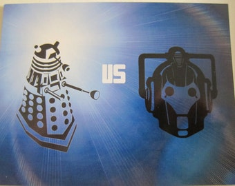Doctor Who - Dalek VS Cybermen Postcard