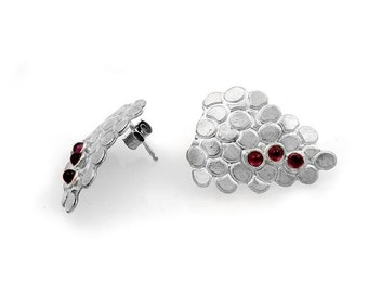 Grape Cluster Stud Earrings