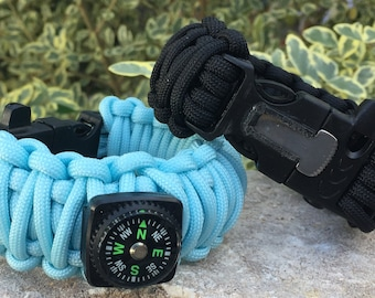 His / Hers Survival Paracord Bracelet , multi styles, colors, and types available