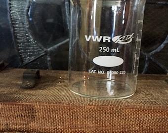 Vintage Science Beaker VWR 250 ml - heavy duty - Unique Vase - Specimen - Laboratory