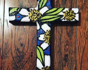 hand-painted cross