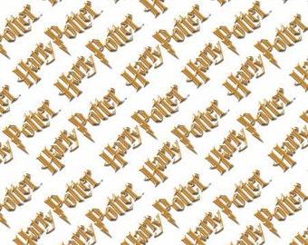 Logo White, Harry Potter Digitally Printed Cotton Woven Fabric