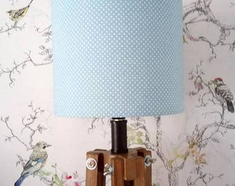 Blue spotty Lampshade