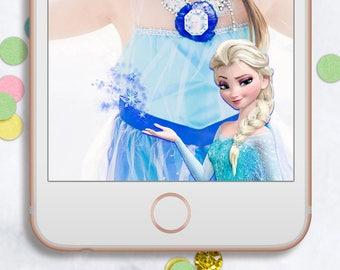 Snapchat Geofilter Frozen, Elsa Snapchat Geofilter, Frozen Birthday, Elsa Birthday, Frozen Party, Elsa, Anna, Snapchat Geofilter,Decoration,