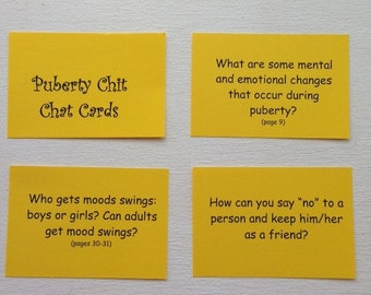 Puberty Chit Chat Cards
