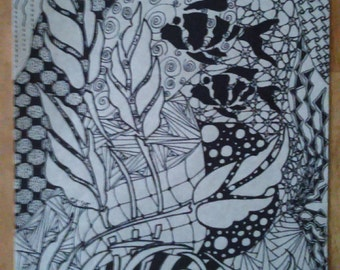 Underwater World Zentangle