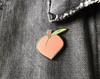 Peach Enamel Pin