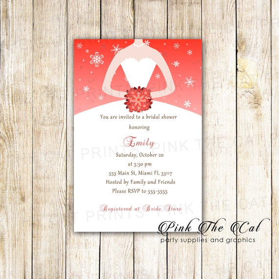 On sale printable personalized winter bridal shower invitation like this item filmwisefo