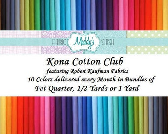 Kona Cotton Club, Fabric Bundle, Robert Kaufman Fabrics
