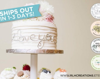 I Love You Cake Topper / Wedding Cake Topper / Wire Cake Topper / I Love You Cake Decor / Cake Decor / Wedding Cake Decor / I Love You Wrap