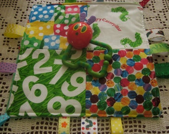 Caterpillar teething crinkle toy, Baby crinkle toy, Caterpillar, 10x10, busy moms toy, plush teething toy, crinkle toy, Valentines Day, New