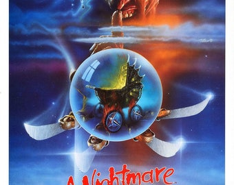 A Nightmare on Elm Street 5 1989 Cult Vintage Horror Film Movie Poster A3 A4