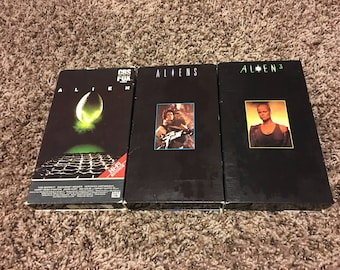 Alien, Aliens and Alien 3 VHS Lot