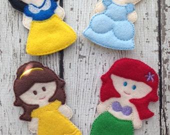 Princess Finger puppet set, Princess playset