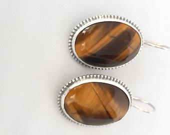 Sterling Silver Earrings ,Silver Earrings ,Amber Earrings