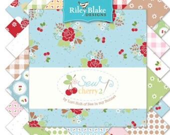 Sale-  Lori Holt Sew Cherry 2 - Fat Quarter Bundles